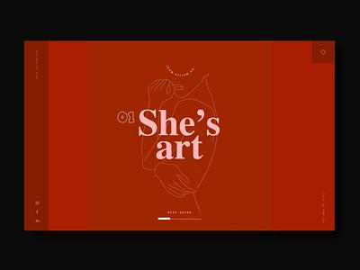Happy International Women's Day lines animation web design illustration ui graphic design women
