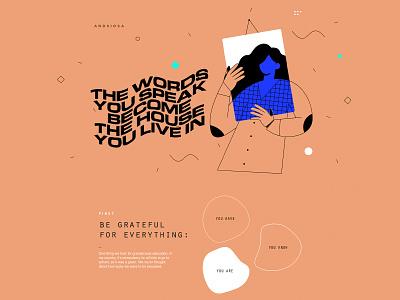 Feeling Grateful selflove love ux ui inspiration web design animation illustration ui adobe xd design graphic design
