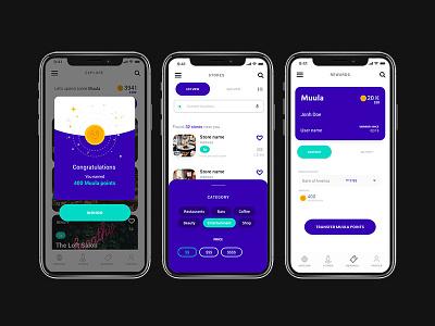 Muula App Design app ui design graphic design ux ui app design ui adobe xd