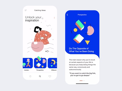 Unlock your Inspiration madewithxd madewithadobexd ux app app animations illustration animation app branding graphic design adobe xd ux ui
