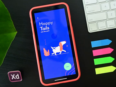 Happy Tails - Autoanimate Adobe XD microinteractions user experience user interface walking cycle animation app design uxui adobe xd