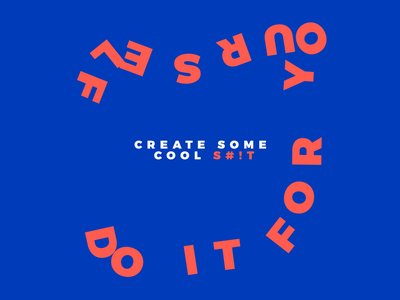 Do it for yourself trends design graphic design living coral classic blue aftereffects animation typography