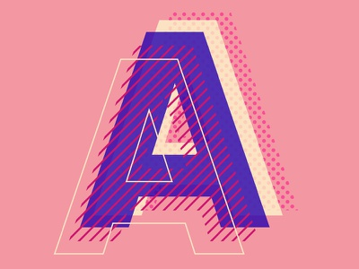 My type of type augmented reality typography typo vector illustration design graphic design