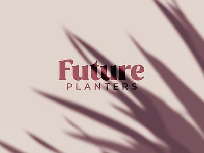 Future Planters logotipo graphic design tropical plants branding logo