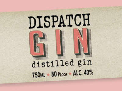 """""""Dispatch Gin"""" Label package design labels spirits alcohol gin label design packaging"""