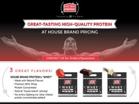House Brand Whey Protein web page