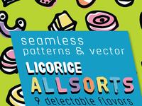 Licorice allsorts swatches