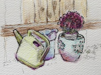 Flower Pot Sketch