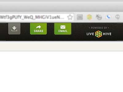 LiveHive Buttons External Viewer ui ux buttons