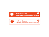 Charity Sell To Donate Button.