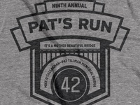 9th Annual Pat's Run t-shirt