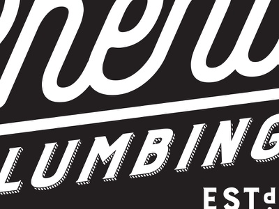 Phend Plumbing - kerning fixed logo plumbing kerning typography letters text