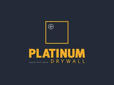 Platinum Drywall logo logo
