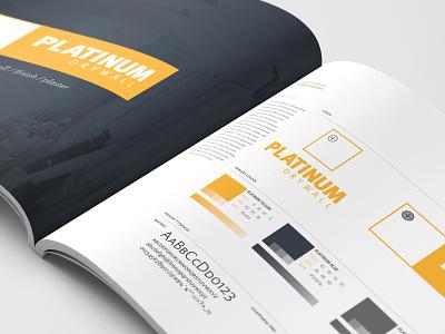 Platinum Drywall - Brand Guidelines logo guide brand