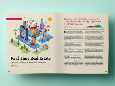 The Q Magazine - Redesign  magazine layout real estate typography design spread