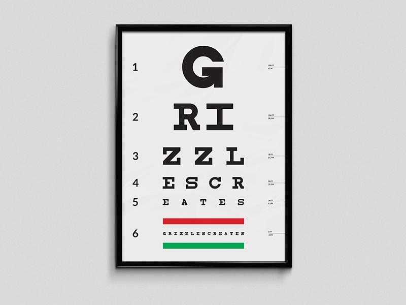 Eye Exam Chart By Cedric Cummings On Dribbble