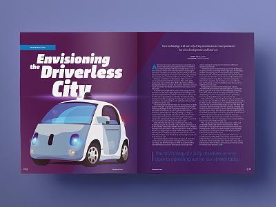 Driverless City article car driverless google illustration