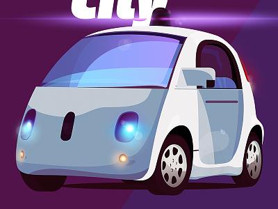 Google Self Driving -New Windshield driving self car driverless google illustration