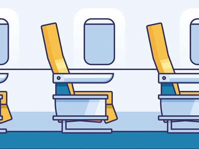 First Class Seats airplane airlines seats first class icons