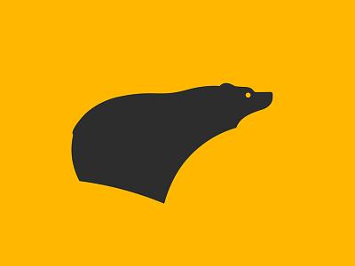 Black Bear black grizzly woods nature symbol mark design icon logo bear