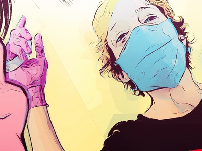 Sneak peek medical gloves dentist procreate illustration