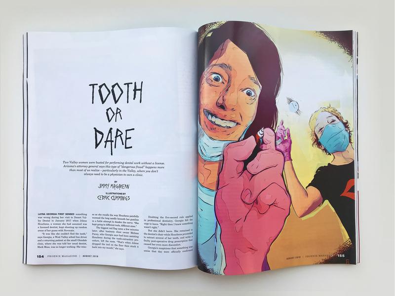 Tooth or Dare magazine illustration procreate ipad magazine design illustration