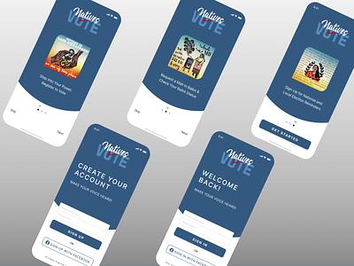 Onboarding Screens - Voting App app ios app ux signup signin mobile design login screen onboarding screens figma design mobile app design