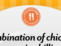 It's Lunch Time! logo detail