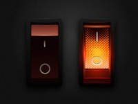 Lighted Rocker Switch in vector