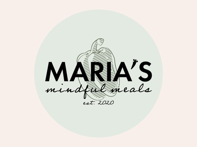 Maria's Mindful Meals Logo foodblog food badge logo badgedesign logo design branding