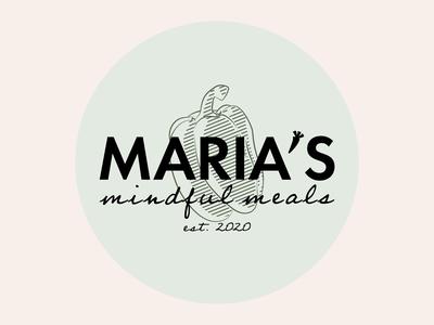 Maria's Mindful Meals Logo foodblog food badge logo badgedesign logo design branding