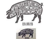 Bachelor Hog Roast Party Gift (Etched Steel Knife)
