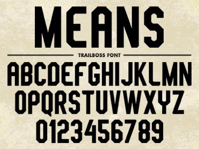 Trailboss font
