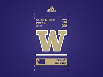 Hall Pass label design state huskies washington adidas design apparel sports logo t-shirt