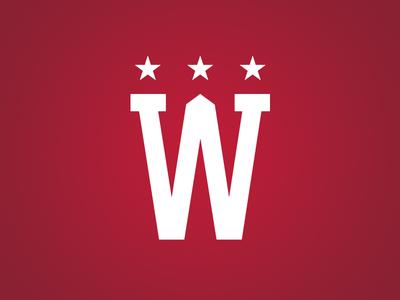 Capitals Winter Classic W Logo nhl capitals washington d.c. hockey logo type