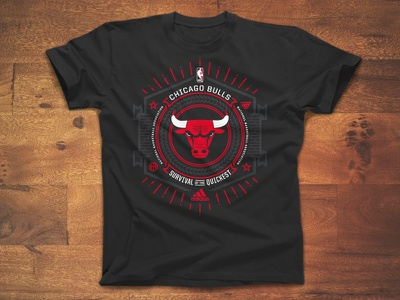 Code Of The Streets nba basketball chicago logo screen print bulls apparel survival street code windy city