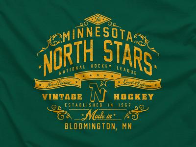 Big Shot logo sports hockey t-shirt type nhl vintage ccm apparel minnesota north stars