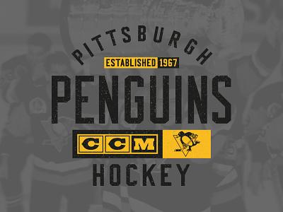 Golden Goal texture type logo vintage ccm apparel sports penguinss pittsburgh hockey nhl