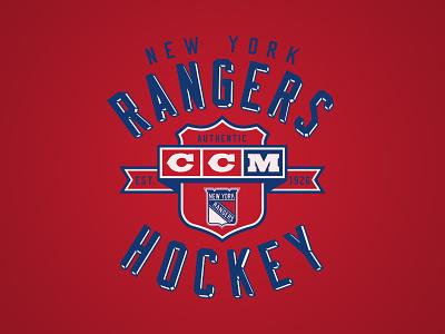 Supra Shield broadway nyc type logo vintage ccm apparel sports rangers new york hockey nhl