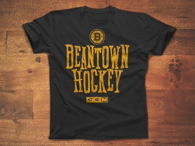Beantown Hockey texture type logo vintage ccm apparel sports bruins boston hockey nhl