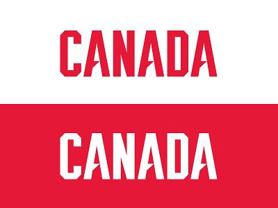 Canada Wordmark type black white red world cup identity nhl sports logo canada hockey