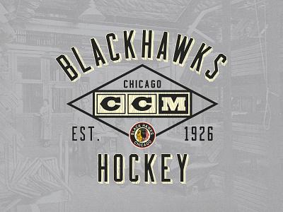 Woodwork woodgrain logo vintage ccm apparel sports blackhawks chicago hockey nhl