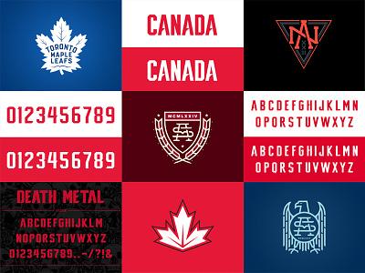 Best Nine 2016 crest canada fonts typography logo identity monogram hockey design