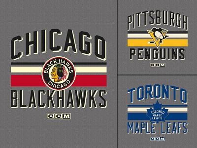 """""""Classic Stripe"""" CCM T-shirt apparel tshirt sports logo vintage classic stripes toronto pittsburgh chicago hockey"""