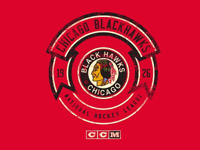 Enforcer ccm banner vintage apparel blackhawks chicago logo sports hockey nhl