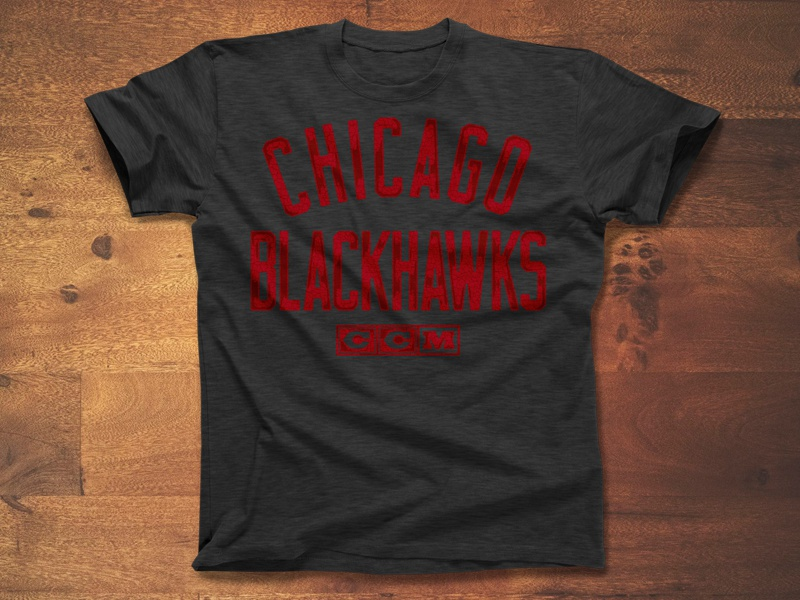 Opposition apparel logo typography script type distressed vintage sports blackhawks chicago nhl