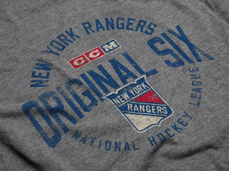 Classic Six logo sports distressed vintage rangers new york hockey nhl