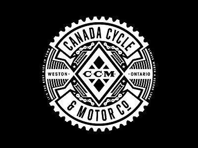 CCM Chain Breaker vintage white black apparel chain bicycle bike canada ccm logo hockey