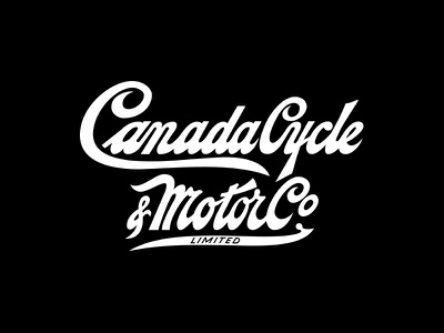 CCM Canada Cycle Script vintage white black apparel chain bicycle bike canada ccm logo hockey