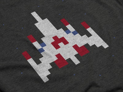 Challenging Stage cotton bureau apparel quarters galaga video game starfighter arcade pixel space